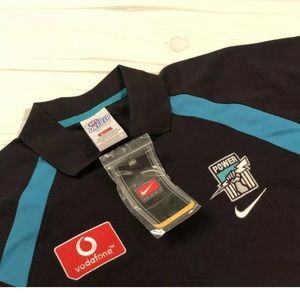 NWT Nike Team On Field AFL Port Adelaide Polo Med